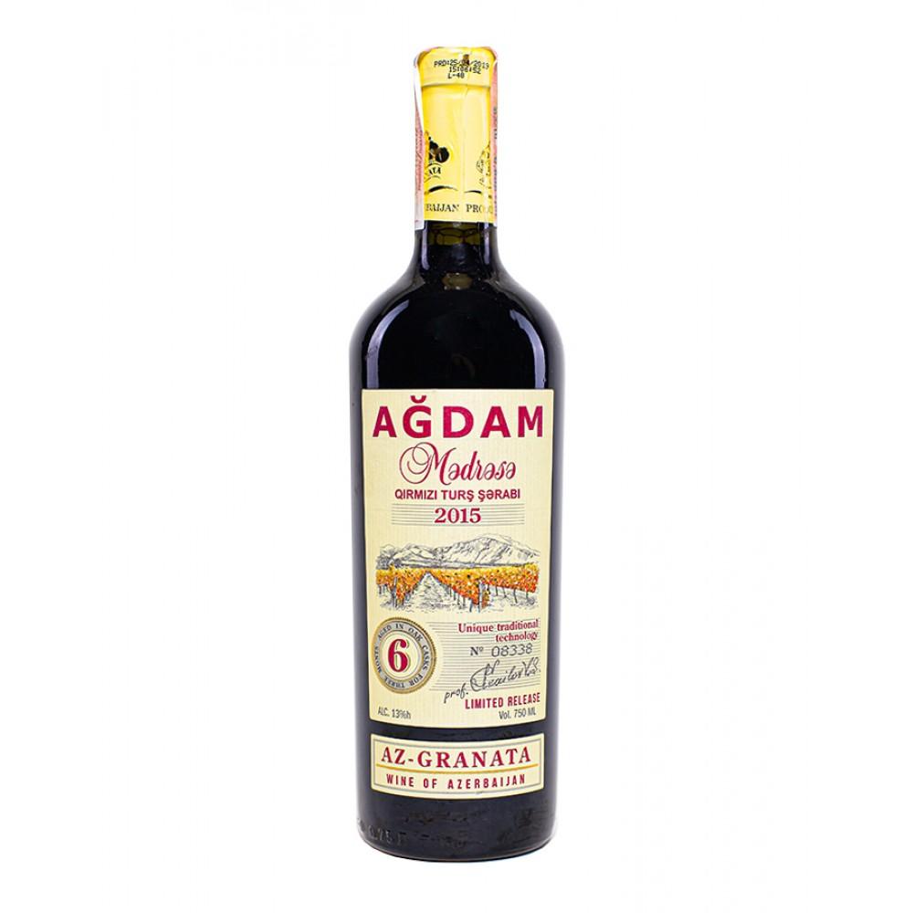 Вино AGDAM MƏDRƏSƏ красное сухое