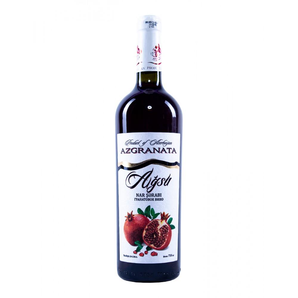 Вино AGSU гранатовое полусладкое