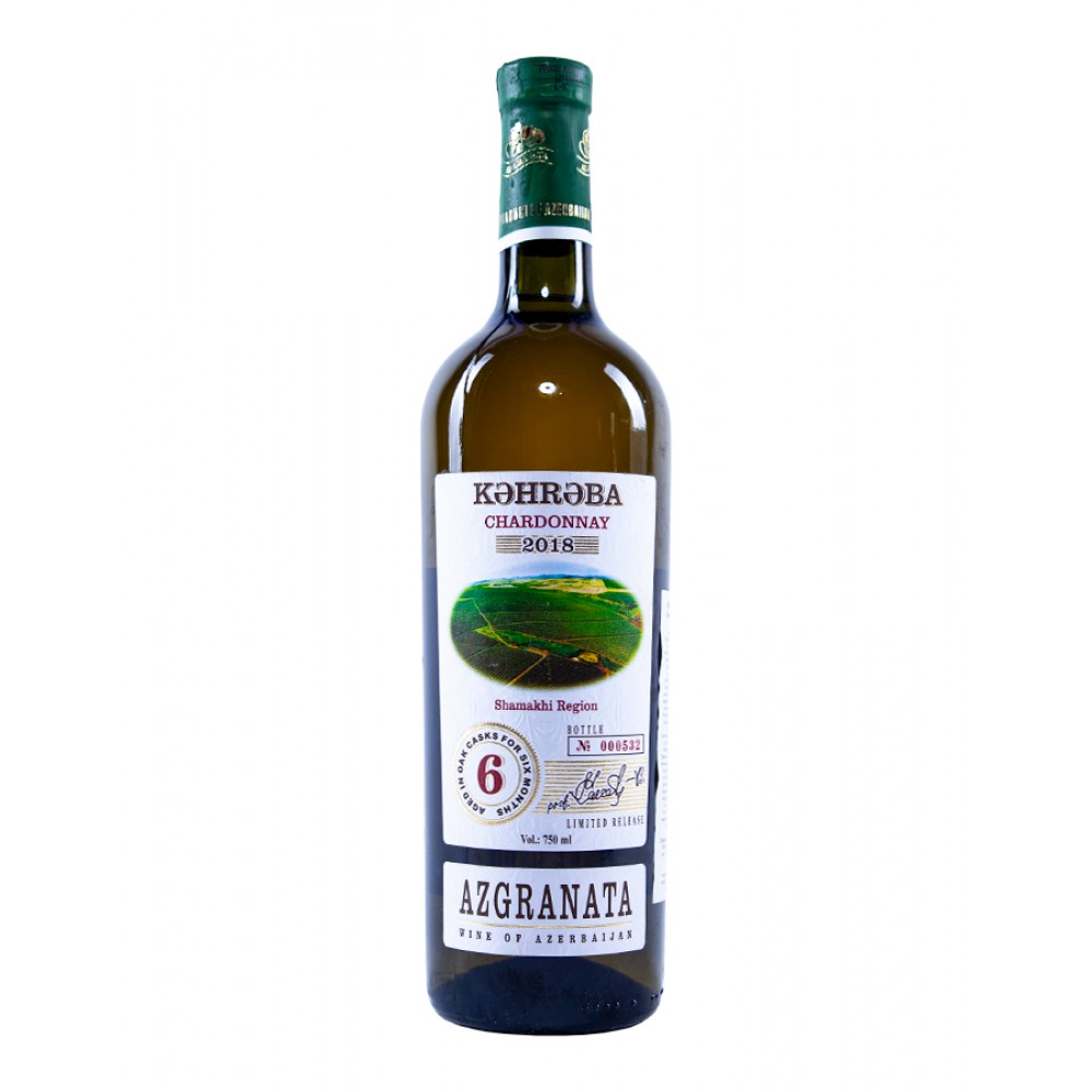 Вино KƏHRƏBA CHARDONNAY белое сухое
