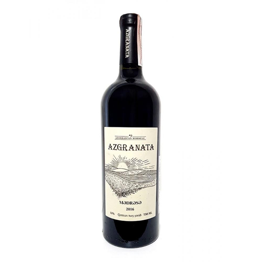 Вино MƏDRƏSƏ марочное красное сухое